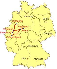 Karte Pilgerweg NRW