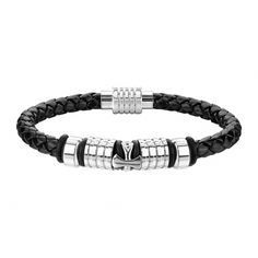 203 mm Kunstlederarmband schwarz mit Charm Kreuz Piercing, Stars, Bracelets, Men, Jewelry, Fashion, Fashion Jewelry, Crosses, Artificial Leather