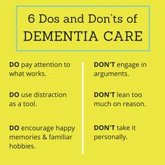 6 Important Dos and Don'ts of Dementia Care
