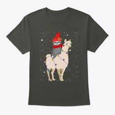 Dinosaur Reindeer Funny Christmas Hanes Tagless Tee T-Shirt