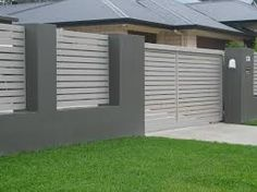 Image result for brick and colourbond fence