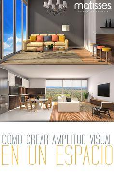 Los nuevos tipos de vivienda tienden a ser más pequeños, pero si se usa el mobiliario,los colores y formas adecuadas, se ampliará visualmente el espacio.