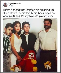 This frightening clown: