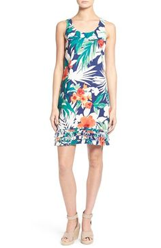 Tommy Bahama 'Victoria Blooms' Ruffle Hem Linen Dress available at #Nordstrom