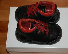 New MAGUS Boys Black  Red Leather Winter Shoes | £8.99