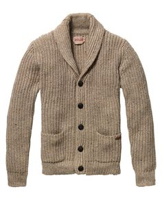 Japanese styled knitted cardigan in naps yarn quality - Pulls - Scotch & Soda Online Shop
