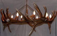 Double elk antler chandelier elk chandeliers and antlers aloadofball Images