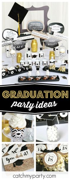 Check out this awesome 'Tassel Worth the Hassle Graduation Party'! The party decorations are fantastic!! See more party ideas and share yours at CatchMyparty.com #catchmyparty #partyideas #graduationparty