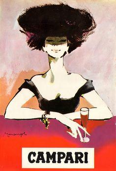 Campari, illustration by Franz Marangolo, 1960s