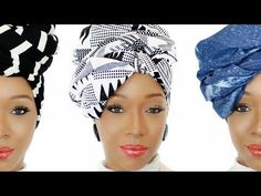 037Collection | 4 Easy Head Wrap Styles | Ankara, Denim & Knit Head Wraps - YouTube