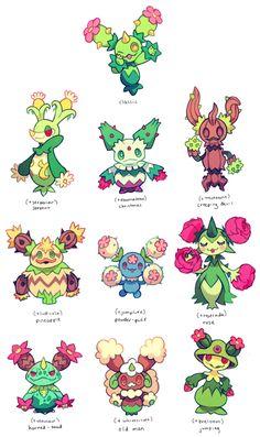 maractus variations by extyrannomon on DeviantArt - Pokemon Pokemon Mix, Pokemon Fusion Art, Pokemon Fan Art, Original Pokemon, Pokemon Breeds, Pokemon Pictures, Catch Em All, Anime, Creature Design