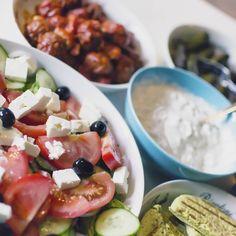 Bij mijn moeder heerlijk Grieks eten :)