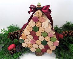 Casinha de Retalhos: Rolhas na decoração de Natal.