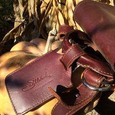 Luggage tag ready to go.   Saddleback Leather Co.   Luggage Tag   100 Year Warranty   $21