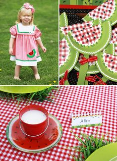 Loved the ants on a log & the plant in the watermelon   Watermelon Picnic