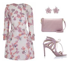 """""""Lavender Floral"""" by mishmashmix ❤ liked on Polyvore featuring The 2nd Skin Co., Chelsea Paris, Mixit and FOSSIL"""
