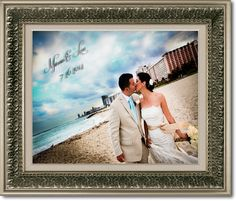 Personalized Canvas Wedding Portrait in a Silver Ornate Frame with Customized Wording. A Great Anniversary Gift! Great Anniversary Gifts, Great Wedding Gifts, Personalised Canvas, Romantic Couples, Wedding Portraits, Crafts To Make, Frame, Artwork, Silver
