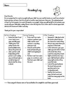 Reading log-spanish/english