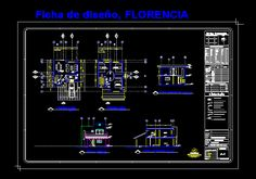 Planos de modelo de casa en autocad