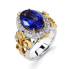 Tanzanite Bridal Ring - Majestic Art Jewelry - Product Search - JCK Marketplace