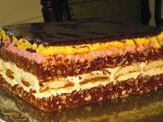 Domowe ciasta i obiady: Ciasto Biedronka Hungarian Cake, Russian Desserts, Polish Recipes, Pumpkin Cheesecake, Tiramisu, Cake Recipes, Food And Drink, Sweets, Cooking