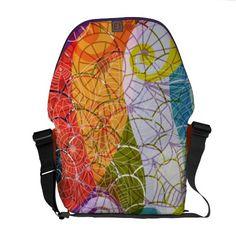 Multicolor Psychedelic Design Messenger Bag