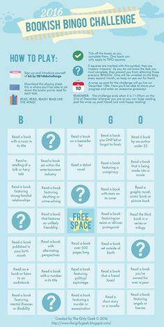 The Girly Geek Blog: The 2016 Bookish Bingo Challenge!