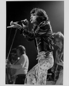 Vintage Mick Jagger of The Rolling Stones Performing on Stage: A Rare Original Photograph