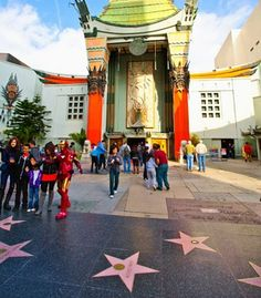 Even a few famous animals have left their paw prints on the Hollywood Walk of Fame. (Look for Lassie, Rin Tin Tin, and even Godzilla.) And check out the Grauman Chinese Theatre on Hollywood Boulevard, while you're there. (From: Photos: 20 Essential American Destinations )
