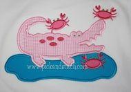 Alligator and Crabs Applique Design