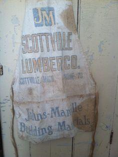 Vintage Lumber Company Apron Scottville Michigan