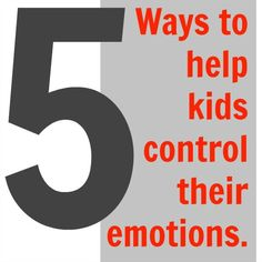 Helping kids control their emotions. This might be a useful guide to share with parents!