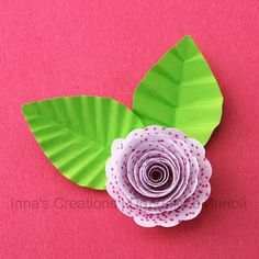 How to make paper leaves with veins