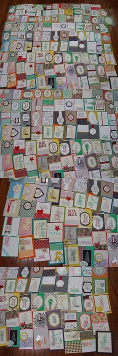Greeting Cards and Gift Tags 146324: 110 Stampin Up Handmade Card Fronts (110 Total) -> BUY IT NOW ONLY: $46.99 on eBay!