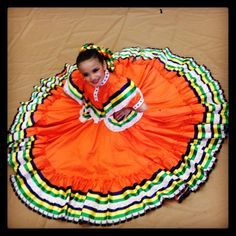 Beautiful little Folklorico dancer in her Jalisco skirt