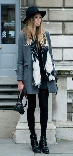 #street #style / monochrome gray