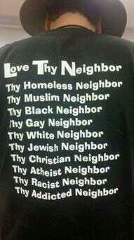 THIS IS WHATS ITS ALL ABOUT CANT SAY YOU LOVE GOD WHILE YOU HATE SOMEONE ELSE