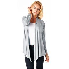 Popana Super-Soft Open Front Drape Cardigan (Medium - Light ), Women's