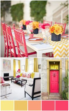 {The Ardent Sparrow}: Colour Amore {Pink & Yellow}