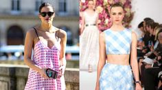 How to Wear Gingham This Spring. A print made for crisp sunny days, as seen on the runway and on the street.