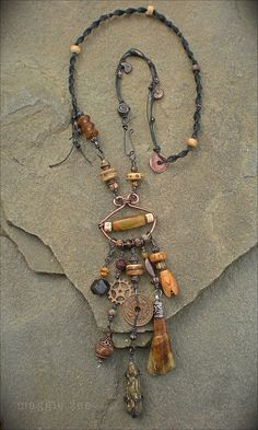 Earth Amulet Necklace by Maggie Zee | www.etsy.com/shop/magg… | Flickr