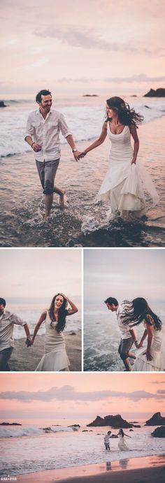 Malibu Beach Elopement at El Matador State Beach Sunset Photos
