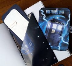 Love books and journals? Custom gifts for all - wedding, anniversary, travel or #graduation at www.bespokebindery.co.uk A6 leather journal,Dr Who journal,Doctor Who,Tardis, #Whovian gift, traveler notebook,graduation gift,envelope pockets  Unique handmade gift for the Dr. Who fan in your life... #buyhandmade #etsywedding #travelernb #honeymoon #tardis #whovian