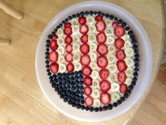 Happy 4th of July everyone!  We're making one of these today.  #4thofjulyfruitpizza - Festive, and easy enough for the kids to help make (bonus!)