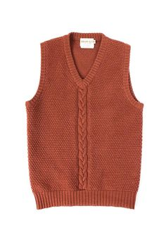 429151a0e50e S M Cable knit wool vintage men s unisex sweater vest   Brass Ltd. medium  brow   Christmas Holiday
