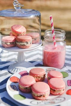 Kate Barnes photography- Strawberry Milk and Cookie Dough French Macarons