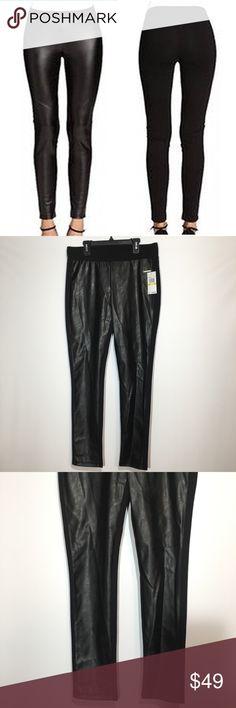 Michael Kors Black Faux Leather Ponte Pants M L Michael Kors NEW Black Women Faux Leather Front Panel Ponte Pants Leggings Stretchy MSRP: $130 Size M L XL MICHAEL Michael Kors Pants