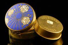 Poudrier powder compact Houbigant Paris 1926 art déco style (eBay item 221187264516 end time 21-Feb-13 05:04:23 AEDST) : Kunst, antiek en design
