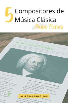 Descarga gratis nuestra guía sobre 5 biografías de compositores de música clásica para niños: claras, resumidas y con sugerencias musicales. Movies, Movie Posters, Orchestra, Concert, Instruments, Musicals, Teachers, Films, Film Poster