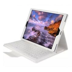 "Removable Bluetooth Keyboard Leather Case Cover for iPad Pro 9.7"" - White"